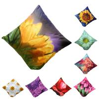 Hot Selling 2016 New 3D Flower Print Sofa Bed Home Decoration Festival Pillow Case Cushion Cover