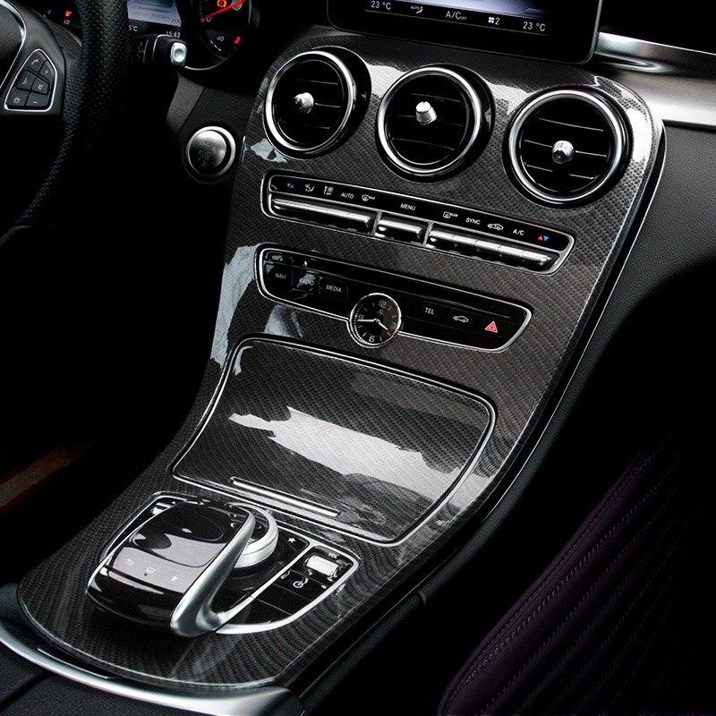 Carbon Fiber Style ABS Plastic For Mercedes Benz C GLC Class W205 C180L C200L C300 GLC260 2015 2016 2017