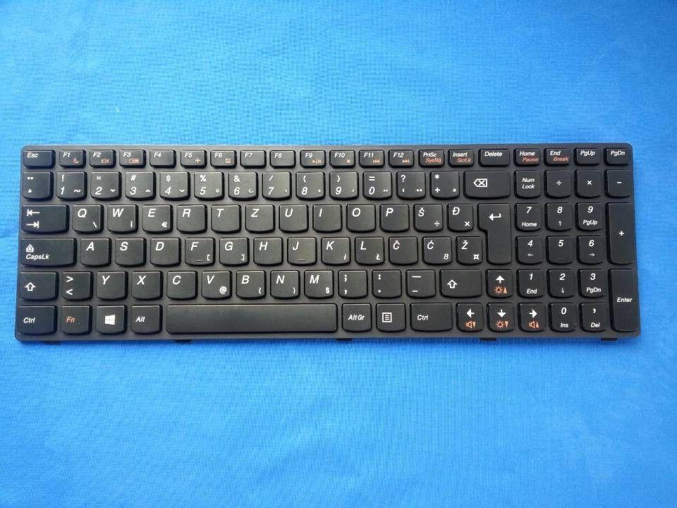 Laptop keyboard Genuine New for Lenovo IdeaPad G580 Z580 G585 V580 SL YU Yugoslavia black 25206683 MP-10A36SA-686CW