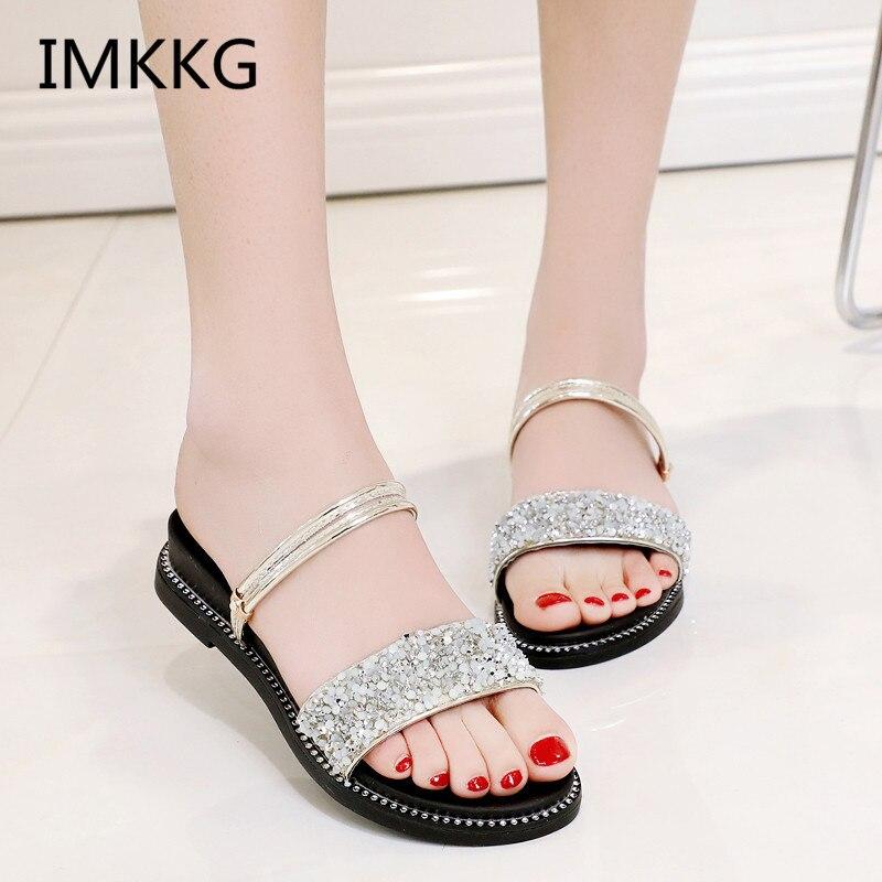 Women Sandals Flip Flops 2018 New Summer Fashion Wedges -2408