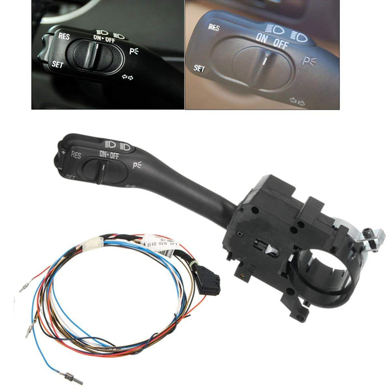 Cruise Control Switches System Stalk + Harness Motorcycle Set Kit Fits For VW Golf/ Jetta/ Passat B5/ Beetle/ Skoda Superb/ Seat