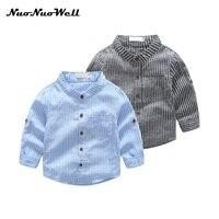 NNW 3 8T High Quality Boys T Shirts Long Sleeve Children Gentleman Sweaters Stripe Pattern Baby