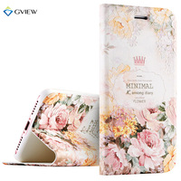 7 7 Plus Case Luxury PU Leather 3D Relief Printing Smart Flip Cover Case For IPhone