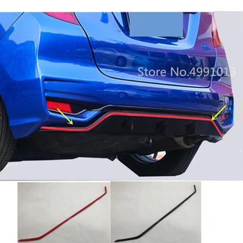 For Honda Fit Jazz 2017 2018 2019 car styling sticker rear door tailgate bumper frame plate trim lamp trunk lid 1pcs