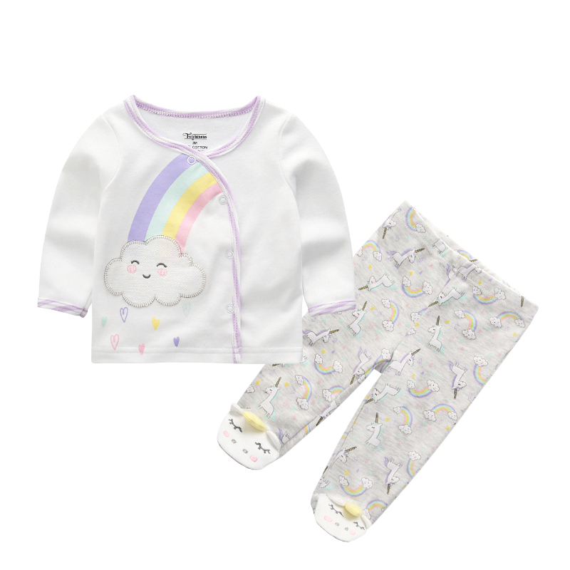 2019 Latest Design New Infant Baby Boys Clothes Set Long Sleeve T-shirt Tops+animal Pants Outfits Tracksuit Set 0-9m