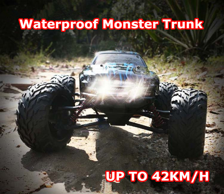 Remote Control Car RC Car 9115 Rock Crawle Monster Trunk 1:12 Scale Rechargeable Electric Toy Car Waterproof High Speed 42km/h huanqi 739 high speed rc cars 1 10 scale 2 4g 2wd 42km h rechargeable remote control short truck off road car rtr vehicle toy