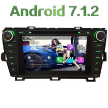 "2GB RAM 8"" Android 7.1.2 Quad Core 4G SWC Wifi Multimedia Car DVD Player Stereo Radio GPS Navi for Toyota Prius LHD 2009-2015"