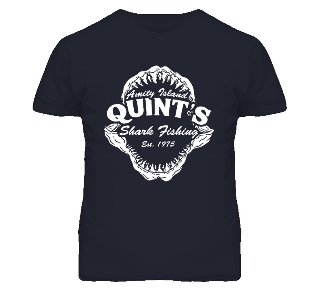 Quints Shark Fishinger Movie Amity Island Jaws T Shirt New Fashion Cool Casual T Shirts image