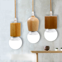 T.Y.S Wood Hanging Lamp Modern Creative Pendant Light nordic