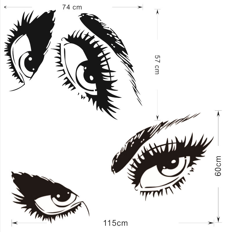 Sexy eyes wall sticker
