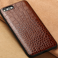 Crocodile Texture Totally Protection Leather Protective Back Cover Case For Xiaomi6 Mi6 Mi 6 M6 Xiaomi6