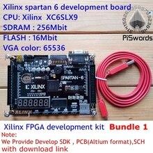 Xilinx spartan 6 FPGA Placa de demostración Xilinx Spartan6 XC6SLX9 con 256Mb SDRAM EEPROM FLASH SD Card Camera VGA