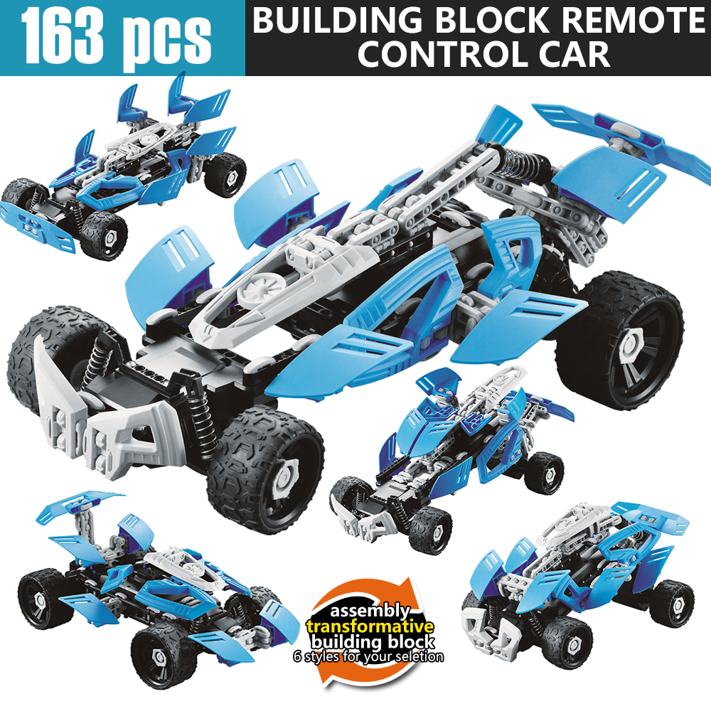 Remote Control Vehicle RC Cars DIY Building Block Boys Toys Machine Radio Controlled Electric Crawler Styling Battery Children