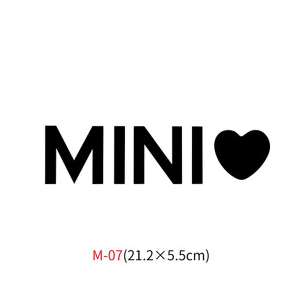 Различные автомобильные наклейки Union Jack для Mini Cooper One S JCW Countryman Clubman F55 F56 R55 R56 R60 F60 автомобильные аксессуары - Название цвета: M-07