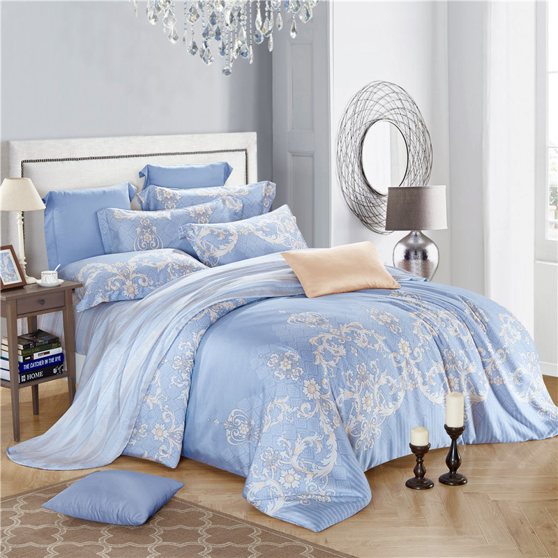 Svetanya Tencel Bedding Set Queen Full King Size Bedlinen Soft and Luxuries  Duvet Cover Sets Europe Style light blue. Online Get Cheap Light Blue Comforter  Aliexpress com   Alibaba Group