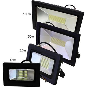 AC 220V 240V LED Flood Light 15W 30W 60W 100W  Waterproof IP65 Reflector Led Floodlight Garden Spotlight Outdoor Lamp