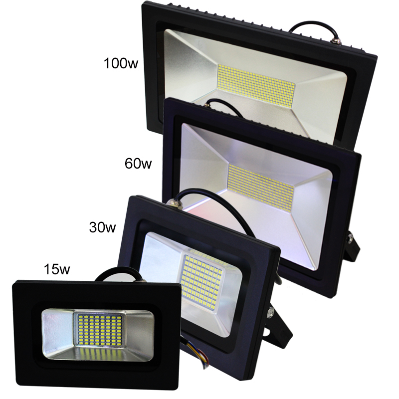 AC 220V 240V <font><b>LED</b></font> Flood Light 15W 30W <font><b>60W</b></font> 100W Waterproof IP65 Reflector <font><b>Led</b></font> <font><b>Floodlight</b></font> Garden Spotlight Outdoor Lamp image