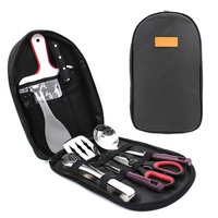 BBQ Grill Tools Set with Storage Bag Stainless Steel Outdoor Barbecue Accessories Grilling Kit RT99