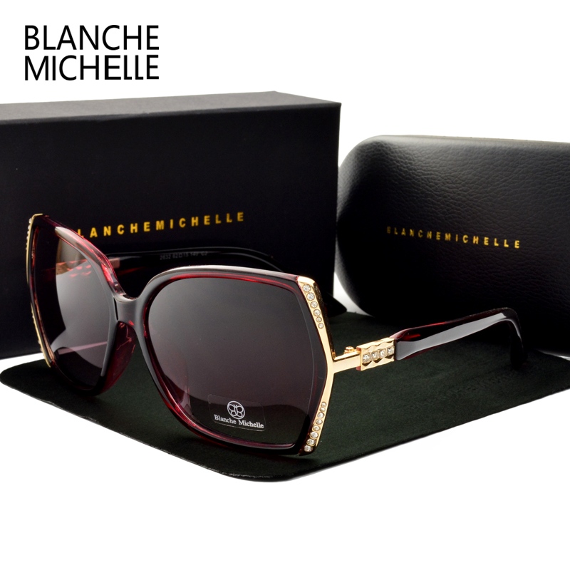 Image 3 - Blanche Michelle High Quality Oversized Polarized Sunglasses Women UV400 oculos de sol Gradient Driving Sun Glasses With BoxWomens Sunglasses   -