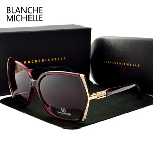 Image 3 - Blanche Michelle occhiali da sole polarizzati oversize di alta qualità donna UV400 oculos de sol Gradient Driving occhiali da sole con scatola