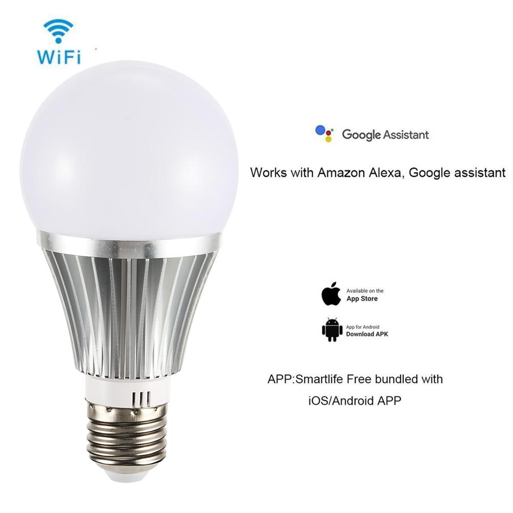 18W E27/B22 Smart LED Bulb Wifi Adjustable Brightness Light Bulb Support Amazon ALEXA/Google Home TB Sale
