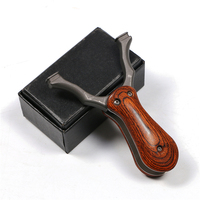 Free shipping folding slingshot outdoor shooting game catapult hunting accessories tool 1pc
