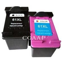 2pk совместимый hp 61xl сменный чернильный картридж для envy