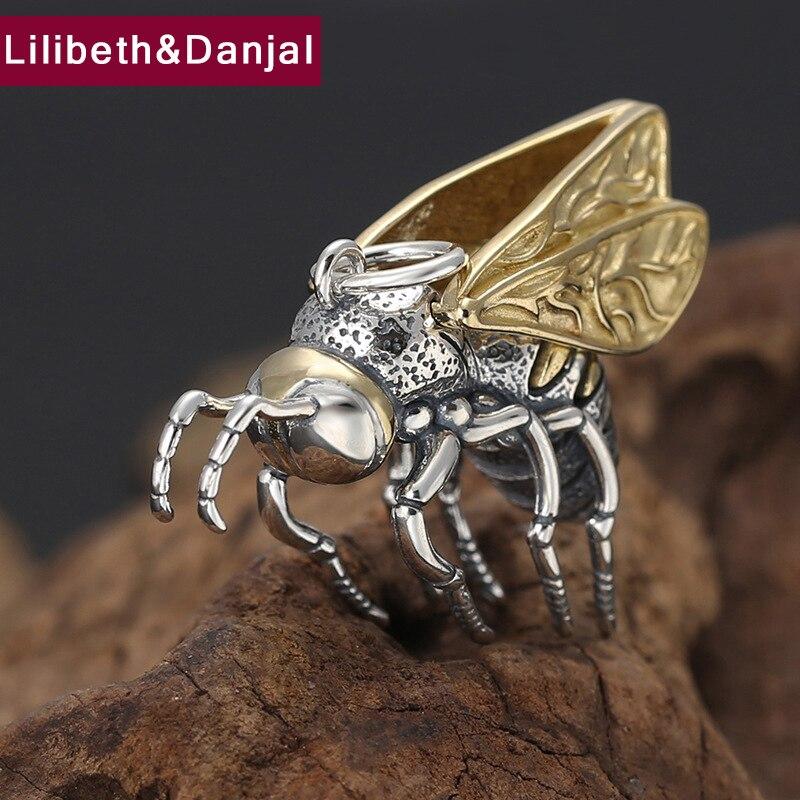 2019 Fashion Pendant 100 925 Real Sterling Silver fine Jewelry Men Women Creative lovely Little bee