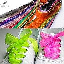 Gootrades Mode 2,5 cm Breite, Flache Schnürsenkel Voile Band Schnürsenkel Sneaker Sportschuhe Fantastische