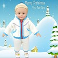 [wamami] 2PC Handcrafted Fashion Blue Jacket Doll Clothes For 18inch American Girl Doll