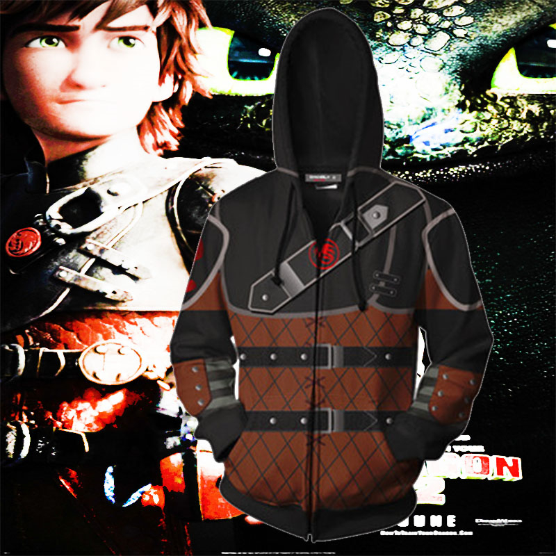 Dropshipping How to Train Your Dragon 3D Print For Men Zippers Hooded Sport Hip hop Hoodies Pullover Pocket Lace Loose Tops