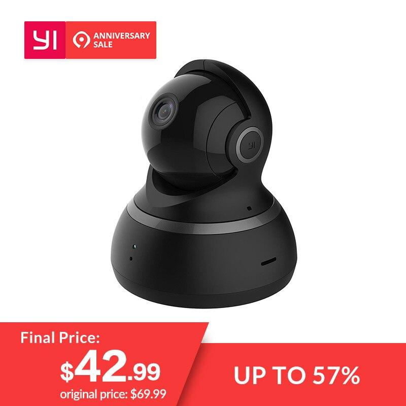 YI cámara domo 1080 P Pan/Tilt/Zoom IP inalámbrica sistema de seguridad completo 360 grado de cobertura de la noche visión negro
