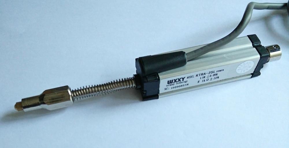 سنسور جابجایی خطی مینی خط کش الکترونیکی KTR 25mm پتانسیلومتر مبدل موقعیت برای دستگاه قالب گیری تزریقی