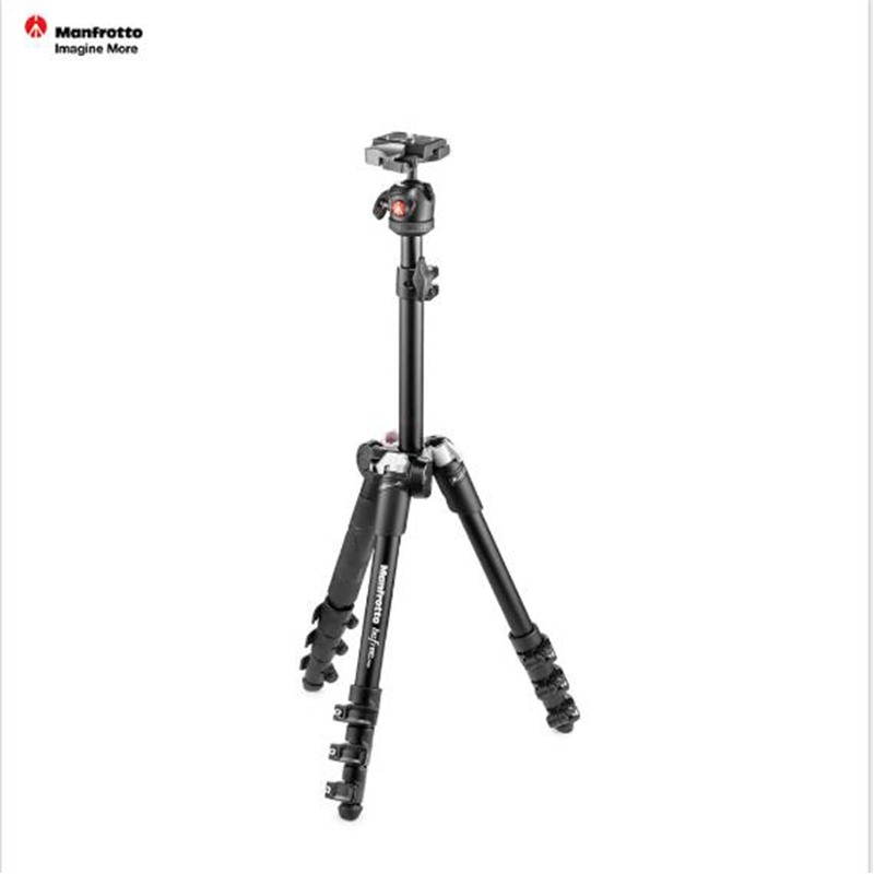 Manfrotto MKBFR1A4B BH Aluminum Tripod Kit Portable Tripod With Ball Head Lightweight Reflexed Tripod Set For