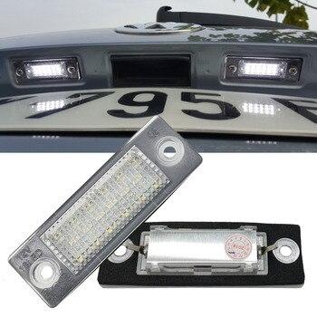 цена на 2Pc Car 18 LED Number License Plate Light Lamp No Error For VW Touran Passat Cimousint B5.5 SKODA Superb 1 3U B5 Car Accessories