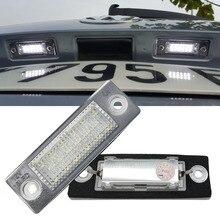 2 шт. автомобиля 18 светодио дный номерной знак свет лампы без ошибки VW Touran Passat Cimousint B5.5 SKODA Superb 1 3U B5 автомобильные аксессуары