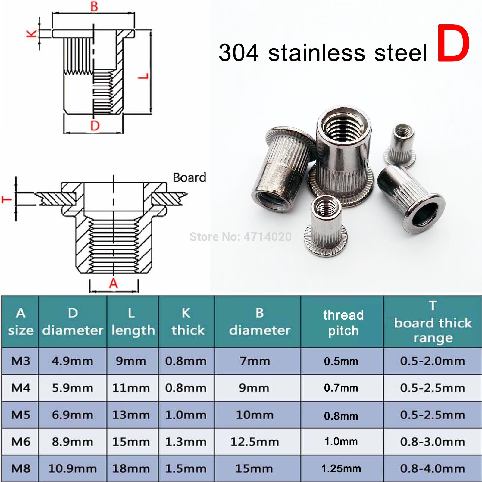 20X M4 M5 M6 M8 Metal Hexagon Hex Socket Head Embedded Insert Nut E-Nut for Wood Furniture Inside and Outside Thread Zinc-alloy