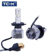 TC-X High Power H4 Compact Car Headlight 60W/Pair 6000Lm H7 LED H11 9006 9005 H1 880/H27 Car Light Fog Light