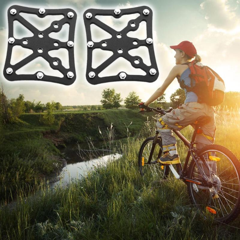 2pcs Riding Mountain Cycling Pedal Quick Release Aluminum Alloy Bicycle Clipless MTB Bike Platform Pedals Adapters Accessories