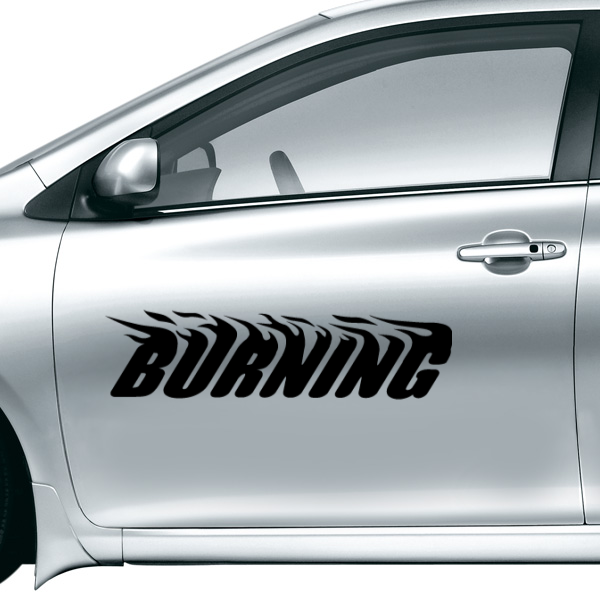 Burning Car font b Sticker b font Waterproof Reflective Decal vinyl font b custom b font
