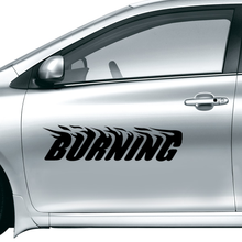 Burning Car Sticker Waterproof Reflective Decal vinyl custom made home DIY car decoration 2016 fashion Free Shipping
