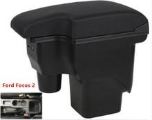 Для Ford Focus 2 подлокотник коробка центральный магазин mk2 содержимое коробки товары подкладке подлокотник хранения автомобиль-Стайлинг Аксессуары части