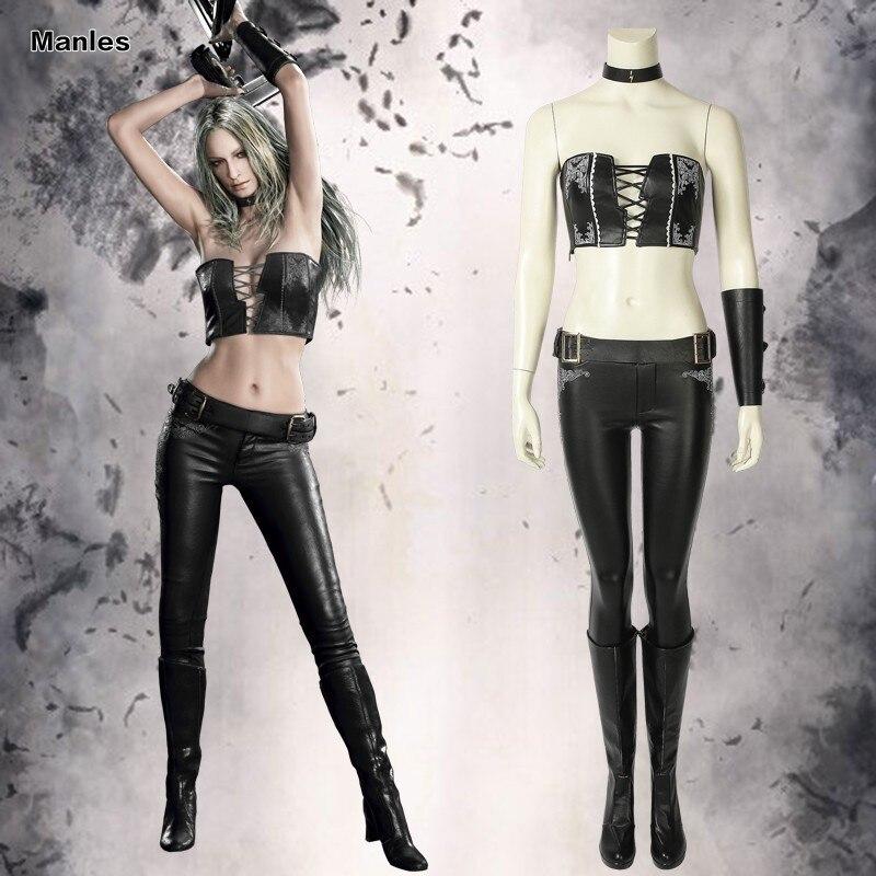 May Cry 5 Cosplay Trish Gloria Jogo Traje Adulto Mulheres Botas de Couro Feito Sob Encomenda Sexy Carnaval Fantasia de Halloween Conjunto Completo