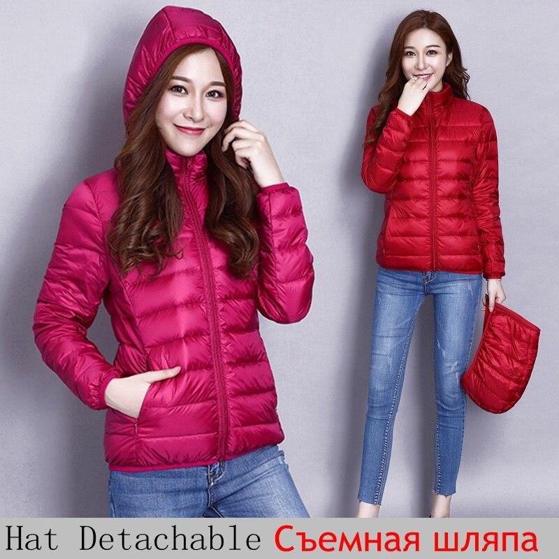 NewBang Brand 6XL 7XL 8XL Plus Size Women Duck Down Jacket Ultra Light Down Jacket Womens Hat Detachable Warm Windbreakers