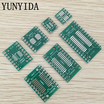 35pcs=7value*5pcs  PCB Board Kit SMD Turn To DIP  SOP MSOP SSOP TSSOP SOT23 8 10 14 16 20 24 28 SMT To DIP ka3842b ka3842 dip 8