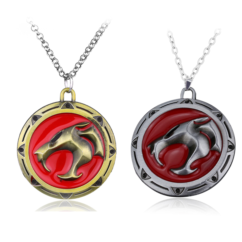 Wholesale Thundercats Necklace Anime Thunder Cats Logo Metal Pendant - Fashion Jewelry