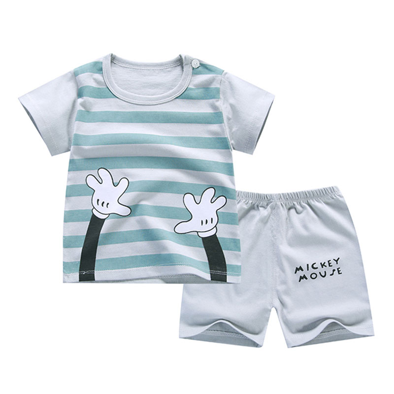 ae967eae02050 T-Shirt+Short Pants 2019 Baby Boy Girls Cotton Clothing Sets Clothes Outfits  Bebes Suits 6M to 7 Years Old 2 PCS Set