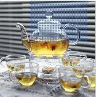 Coffee Maker 600ml Gl Tea Pot 6pcs X 100ml Cups