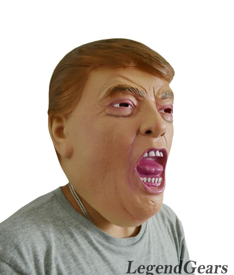 Hot Realistic Human Latex Mask New President Donald Trump Human Mask Latex Rubber Mask