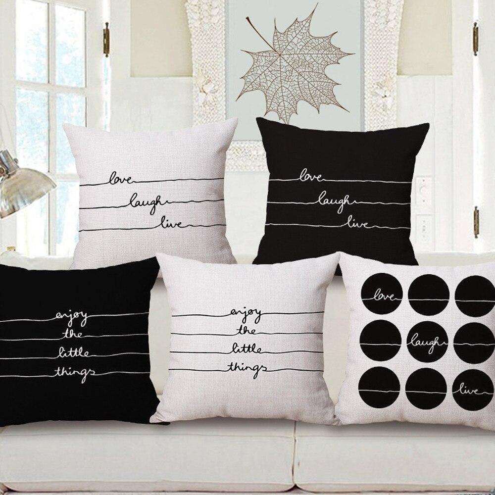 Square Pillow Cover Cushion Case Toss Pillowcase Hidden Zipper Closure 45cm*45cm Home Decor Housse de Coussin Decorative
